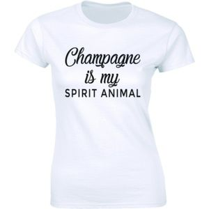 Champagne Is My Spirit Animal Hipster Tee T-shirt